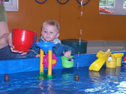 Ace at COSI - Playing In The Water With Momma