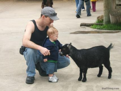 Dad and Ace At The Petting Zoo