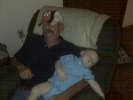 Grandpa and Ace Napping In The Recliner
