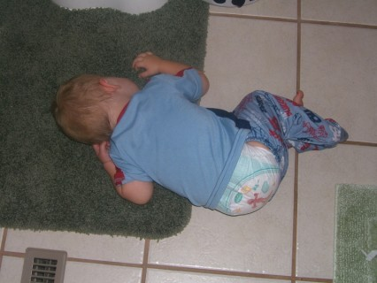 Ace Passed Out On The Bathroom Floor