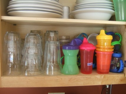 Sippy Cups Share A Cabinet
