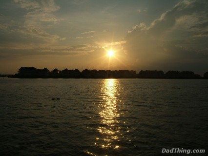 The Sunset Over The Water