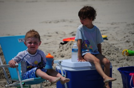 Ace and Livi At The Beach